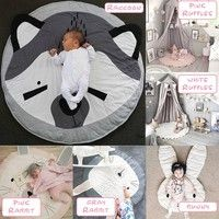 Play Mat Soft Cotton Baby Kids Game Activity Play Mat Crawling Blanket Floor Rug