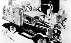 """In this vintage ad from a 1930 issue of the Saturday Evening Post Ram Trucks were, """"Running Up High Mileage – Cutting Down High Costs."""" Over 80 years later, Ram Trucks remain committed to fuel efficiency for working trucks that… Ram Cars, Ram Trucks, Dodge Trucks, New Ram, Dodge Models, Fuel Efficiency, Chrysler Dodge Jeep, Present Day, The Good Old Days"""