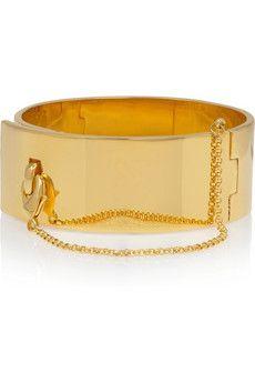 Eddie Borgogold-plated safety chain cuff