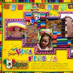 Disney mexico Scrapbook Page Kits | 5th ANNIVERSARY ACTIVITY SCHEDULE -----