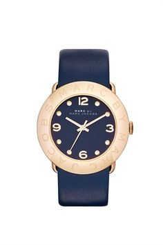 navy and gold marc jacobs watch