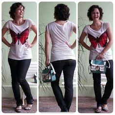 blog v@ LOOKS | por leila diniz: Modelito de hj com BORBOLETA + ONÇA + COALA na bolsa