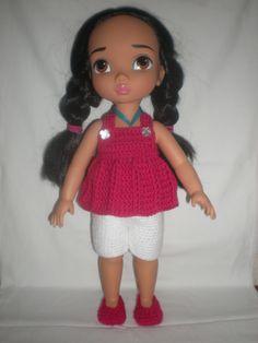 vetements été au crochet pour poupée disney animators : Jeux, jouets par nina56