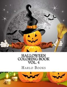 Halloween Coloring Book: Halloween Coloring Fun for Relaxation, Meditation & Stress Relief (Halloween Fun Coloring Book) (Volume Stress Relief Meditation, Relaxation Meditation, Kawaii Halloween, Halloween Fun, Adult Coloring, Coloring Books, Halloween Coloring Pages, Superhero Logos, Pumpkin Carving