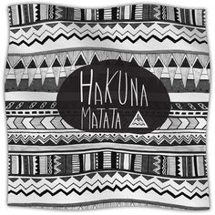 """Hakuna Matata Throw Blanket Size: 90"""" L x 90"""" W (200 CAD) ❤ liked on Polyvore featuring home, bed & bath, bedding, blankets, bedroom, fillers, house, fleece throw, fleece blanket throw and fleece bedding"""