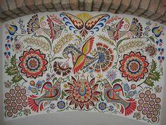 Šikovné Ručičky - Fotoalbum - Vajnorské ornamenty Russian Embroidery, Folk Embroidery, Learn Embroidery, Embroidery Stitches, Embroidery Patterns, Embroidery Techniques, Doodle Patterns, Flower Patterns, Contemporary Decorative Art