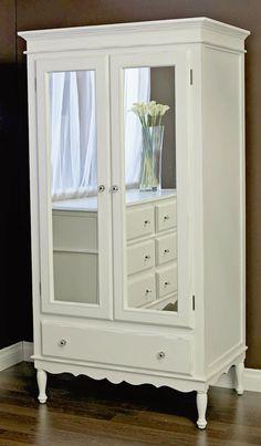 Celine Armoire With Mirrored Doors