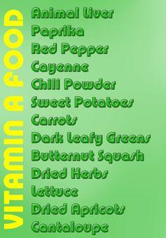 VITAMIN A Rich Food List