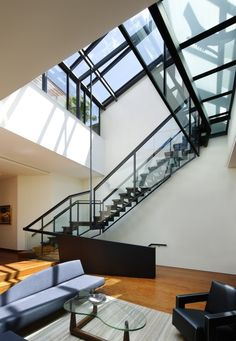 The Staircase At The Joshua Bell Penthouse By CHARLES ROSE ARCHITECTS