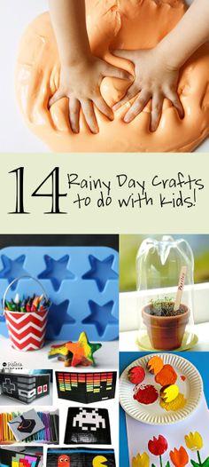 14 Rainy Day Crafts to do with Kids!
