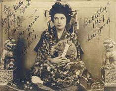 Geraldine Farrar as Madama Butterfly at the Metropolitan Opera in 1907. Photo: public domain.