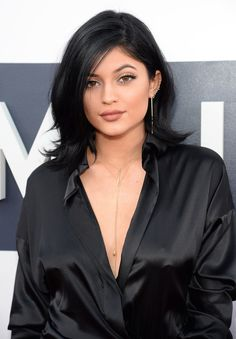 Kylie's jet black locks are perfect for the girl who wants to add a boost of drama to her daily look.