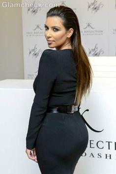 kim kardashian slicked back hairstyle how to