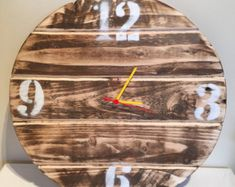 Recycled pallet wood clock by NaturallyTimeless on Etsy