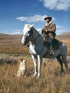 Russell Lee, Shepherd with his horse and dog on Gravelly Range, Madison County, Montana, August 1942.  Source: Library of Congress