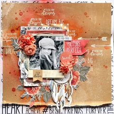 'Picture Perfect' layout by Belinda Spencer Design Team for Kaisercraft using 'Boho Dreams' collection. Scrapbook Expo, Scrapbook Page Layouts, Baby Scrapbook, Scrapbook Albums, Scrapbook Paper, Scrapbooking Ideas, Photo Layouts, Dream Pictures, Layout Inspiration