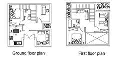 المرحلة السادسة ، ---  ملاحظات ضرورية - نسب وتناسب المساحات وسهولة الحركة - العلاقة الممكنة بين المخططات والنمط الأولي، بما في ذلك الفتحات (ابواب ونوافذ) - دقة الرسم : سهم صعود الدرج، وسمك وأنواع الحطوط ، - رسم بخط متقطع اسقاطات الأجزاء المهمة الموجودة فوق مستوى القطع ، مثلا رسم حدود فتحة الارتفاع المزدوج في الطابق الأرضي - التمييز بين سماكة خطوط الأجزاء الفعلية المقطوعة (