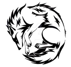 Circle Wolf tattoo  by CaptainMorwen on devaintart