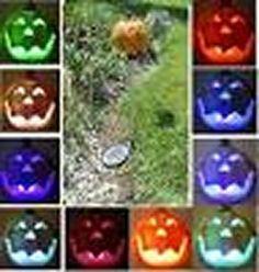 halloween pumpkin color changing led blinking solar garden stake light - Halloween Garden Stakes