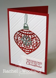Red foil ornament