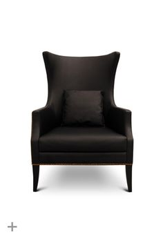 Custom Made To Order Design: The Dukono in Black Leather * 29 x 35 x 43 inches * Request A Quote Sofa Furniture, Luxury Furniture, Furniture Design, Black Leather Armchair, Contemporary Home Furniture, Contemporary Lounge, Modern Lounge, Lounge Chair Design, Lounge Chairs