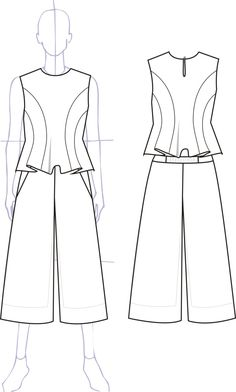 Technical sketches by Mariam Demetrashvili at Coroflot.com