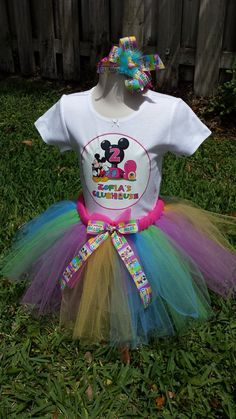 Hey, I found this really awesome Etsy listing at https://www.etsy.com/listing/229065280/mickey-mouse-clubhouse-tutu-set-with