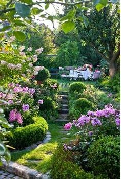 gorgeous path leading to a lovely spot for a garden party