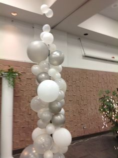 The Great Gatsby Prom - Free form balloon pillars. Wylie 2014 Prom Decor.