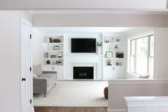 5 Playful Cool Ideas: Livingroom Remodel Fixer Upper living room remodel on a budget bedrooms.Living Room Remodel Before And After Apartment Therapy livingroom remodel house.Small Living Room Remodel Mobile Homes. Built In Around Fireplace, Fireplace Built Ins, Home Fireplace, Fireplace Remodel, Living Room With Fireplace, Fireplace Design, Living Room Decor, Living Area, Fireplace Bookshelves