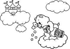 wish bear coloring pages - photo#27