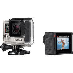Câmera Digital GoPro Hero 4 Silver Adventure 12MP com WiFi Bluetooth e Gravação 4K http://compre.vc/v2/384dcc2d #PreçoBaixoAgora #MagazineJC79