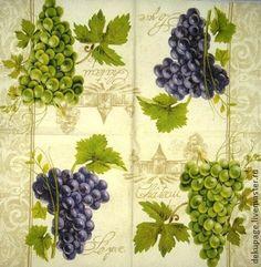 Салфетка Гроздья винограда ( 2 размера 33 и 25). салфетка для декупажа  25х25- 25р  33х33 -…