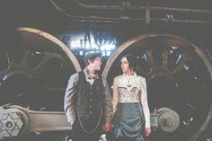 Steampunk inspired engagement shoot - Amanda Abel Photography