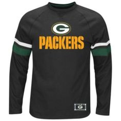 This Majestic Green Bay Packers tee exists in the endzone of style with its team graphics and front decorative stitch. Green Bay Packers Shirts, Mens Tees, Menswear, Spaces, How To Wear, Tops, Style, Swag, Men Wear