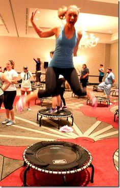 #JumpSport #Fitness #Trampoline #Workout @Fitbloggin' 2013