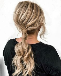 """Schwarzkopf Professional on Instagram: """"Twist up your ponytail like @betty_prohairstylist... We can't keep our eyes off the detail in that intricate knot 😍 #haircolour #blondehair…"""" Schwarzkopf Professional, Blonde Hair, Knot Ponytail, People, Hair Color, Long Hair Styles, Eyes, Detail, Instagram"""