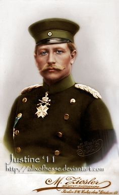 Wilhelm II, the last German Emperor.