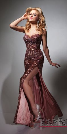 Tony Bowls Evenings TBE21376 Sexy Corset Dress
