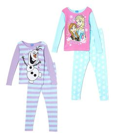 Love this Frozen Four-Piece Pajama Set - Set of Two by Frozen on #zulily! #zulilyfinds