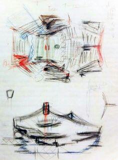 Bocetos de la filarmónica de Berlín_Hans Scharoun