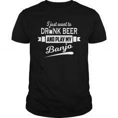 Cool Banjo Player  Drink Beer And Play My Banjo Shirt; Tee