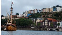 The Matthew in Bristol Floating Harbour Loved the coloured buildings