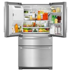 Maytag 26.2 cu. ft. French Door Refrigerator in Monochromatic Stainless Steel-MFX2876DRM - The Home Depot