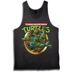 Teenage Mutant Ninja Turtles Men's Tank, Black