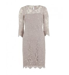Antique embroidered net dress - Mother of the Bride