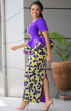 African print styles 2021 African Fashion Skirts, African Dresses For Women, African Print Dresses, African Print Fashion, African Attire, Modern African Fashion, Latest African Styles, Trendy Ankara Styles, Stylish Outfits For Women Over 50