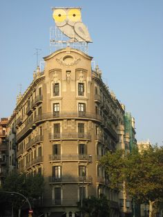 Give a Hoot!  Another interesting building in Barcelona, Spain.