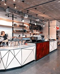 Hottest New Café Openings Across the Globe Cafe Interior Design, Cafe Design, Interior Architecture, Interior Ideas, Coffee House Interiors, Cafe Interiors, Houndstooth Coffee, Coffee Lab, Community Coffee