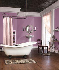 Sherwin Williams 2013 Color Forecast Vintage Moxie Radiant Lilac SW 0074 Plum BathroomPurple BathroomsBathroom